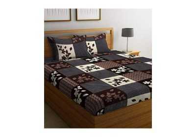goodrik 140 tc microfiber double 3d printed bedsheet