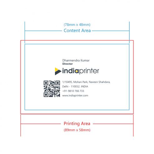 India Printer Business Cards Margins 1